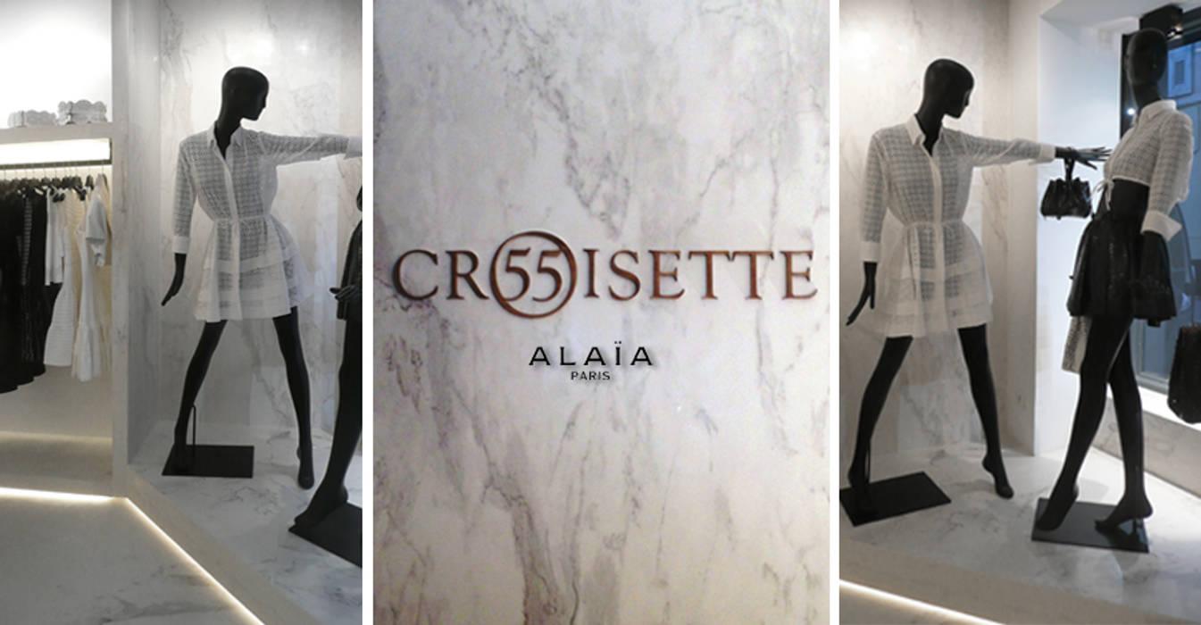 SAINT-TROPEZ   BOUTIQUE 55 CROISETTE: Locaux commerciaux & Magasins de style  par KTL Interiors  by Kareen Trager-Lewis