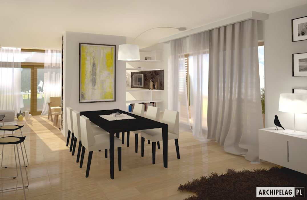 Modern dining room by Pracownia Projektowa ARCHIPELAG Modern