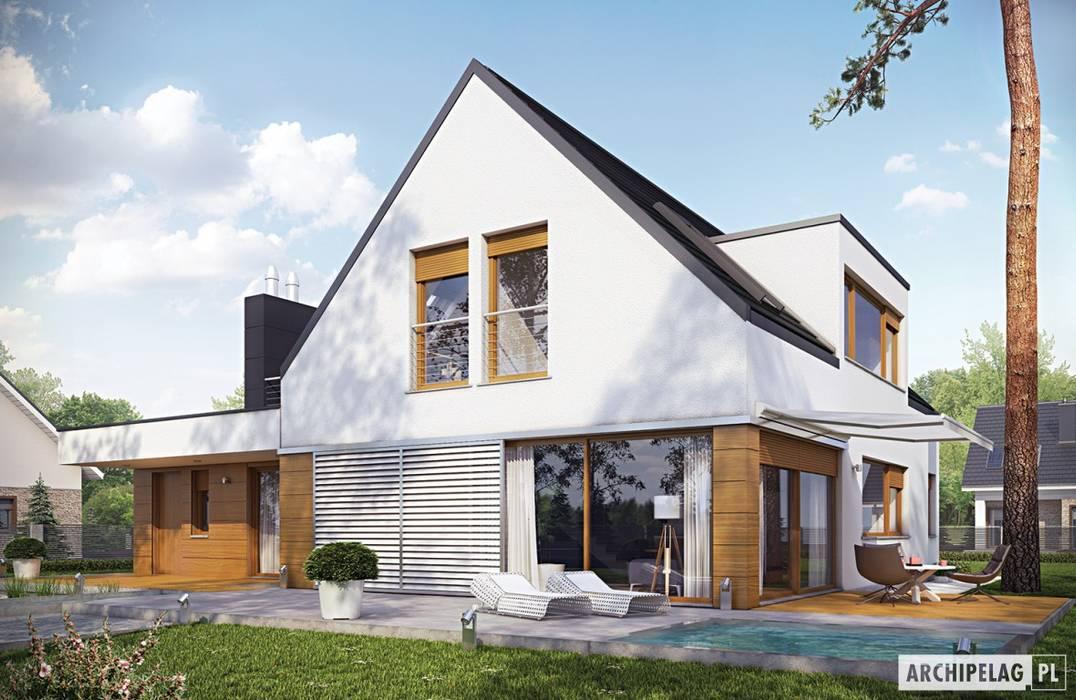 Maisons de style  par Pracownia Projektowa ARCHIPELAG, Moderne