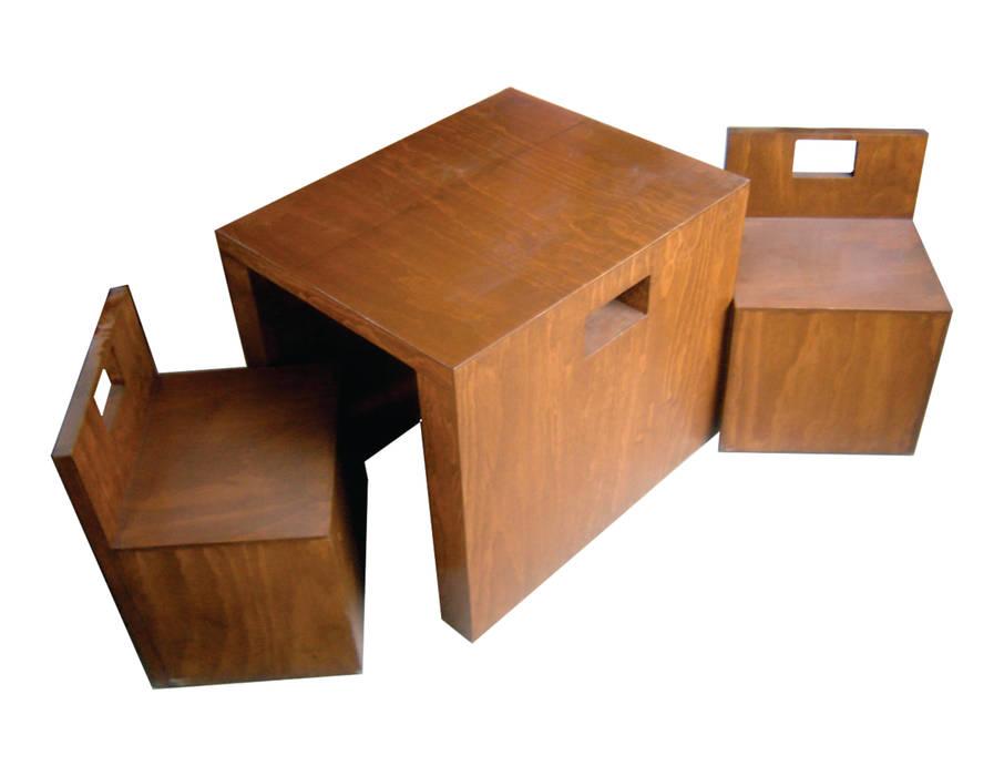 Mesa Cubo: Comedor de estilo  por ecstudio,