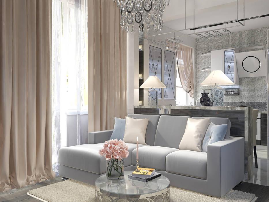 Projekty,  Salon zaprojektowane przez Vera Rybchenko, Klasyczny