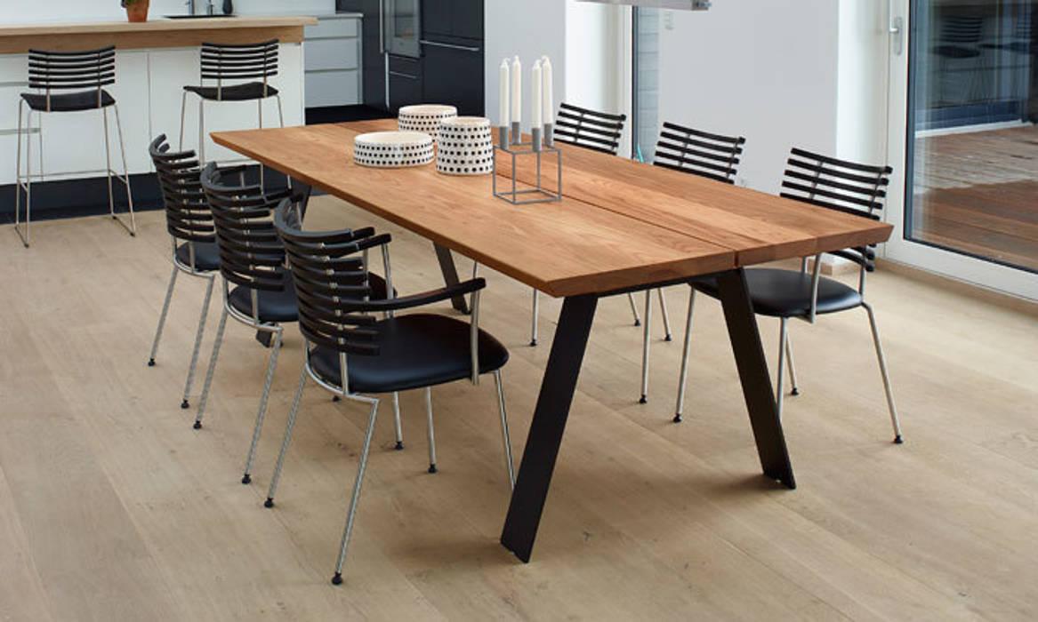 Plank Table De Repas Design Scandinave En Bois Massif Salle à