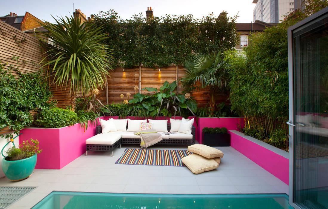 Moroccan style garden Mediterranean style garden by Gullaksen Architects Mediterranean