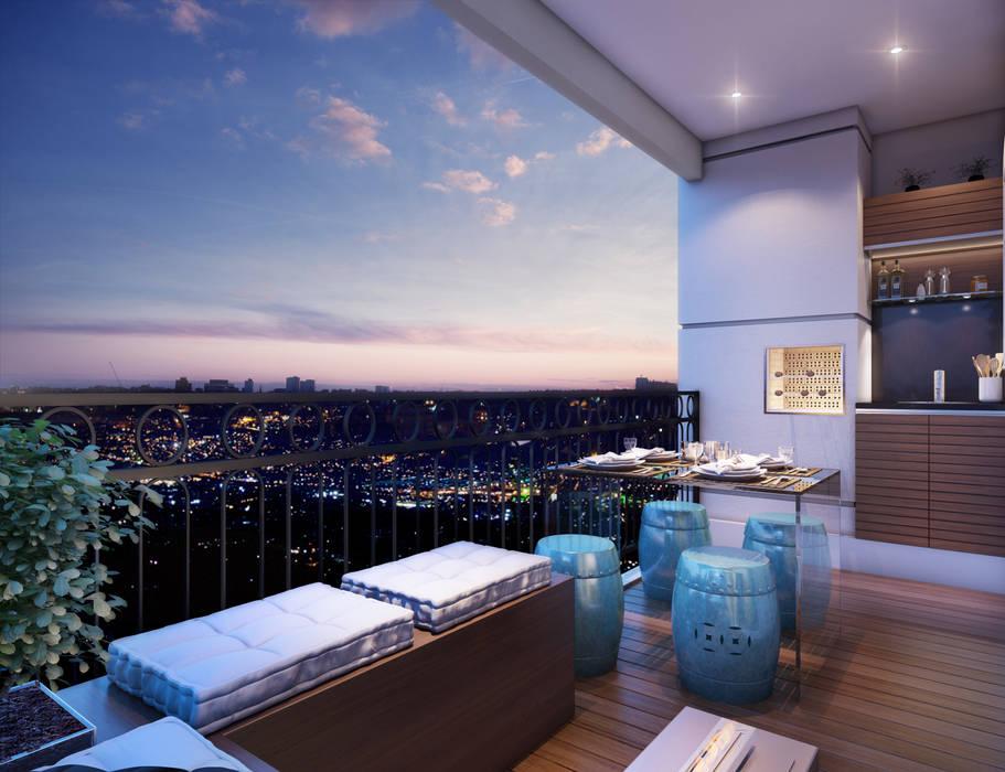 Modern terrace by Lodo Barana Arquitetura e Interiores Modern