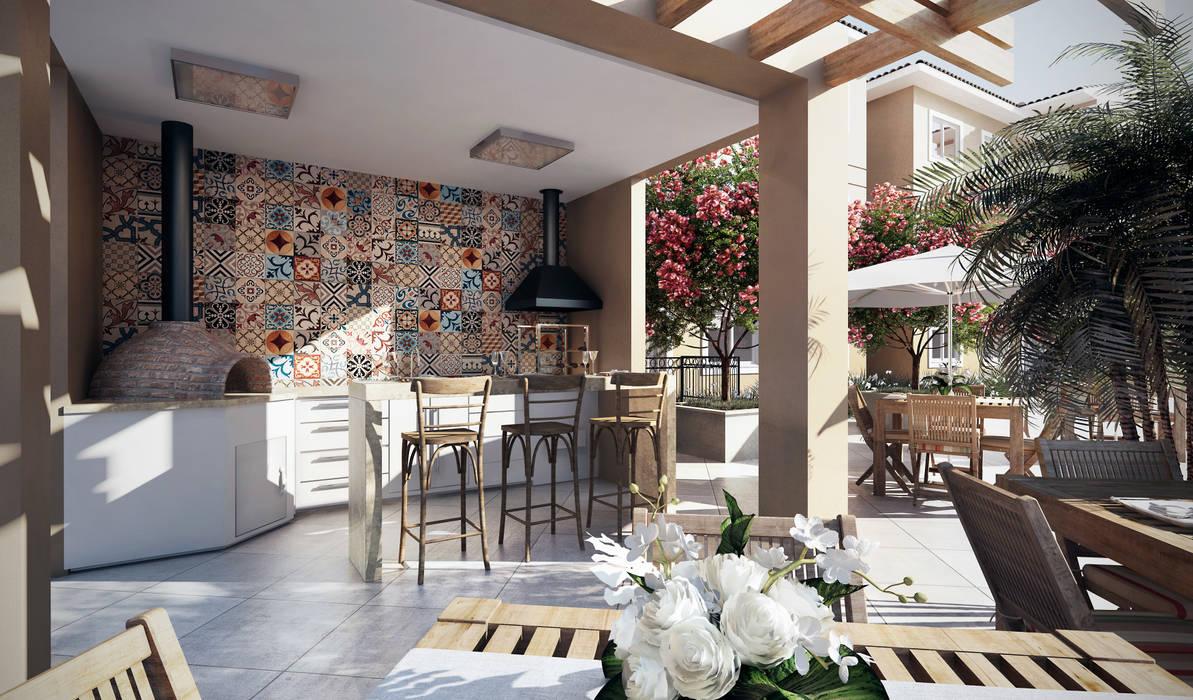 Lodo Barana Arquitetura e Interiores Balkon, Beranda & Teras Modern