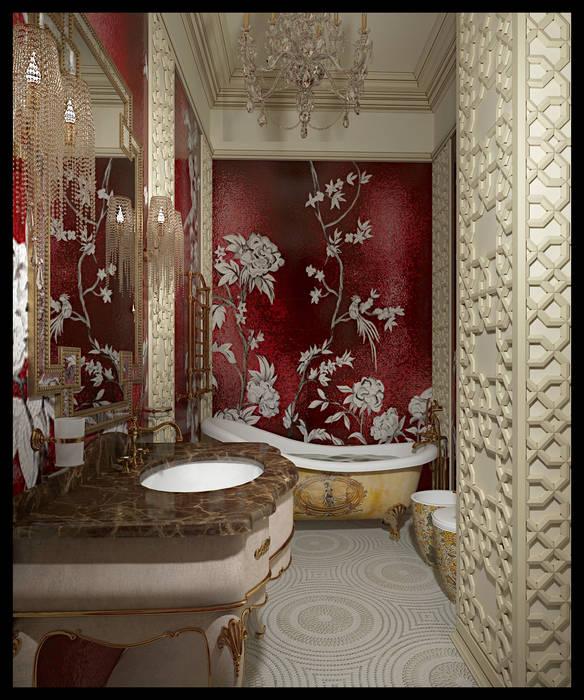Санузел при женской спальне. Вид 1 Ванная комната в эклектичном стиле от Defacto studio Эклектичный