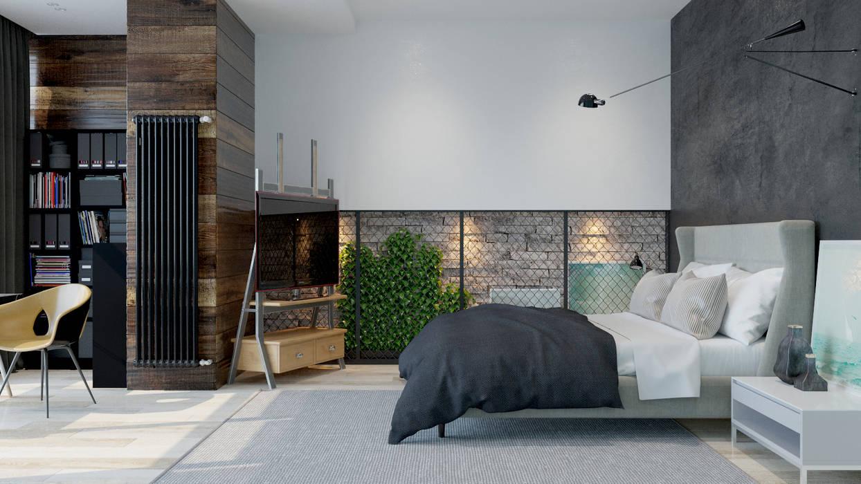 industriële Slaapkamer door Pavel Alekseev