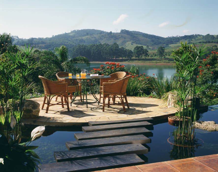 Rustikaler Garten von Eduardo Luppi Paisagismo Ltda. Rustikal