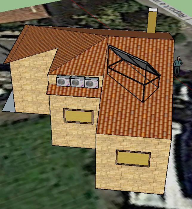 Integração de painéis solares -  uma questão arquitectónica vital: Casas modernas por myhomeconsultores.pt