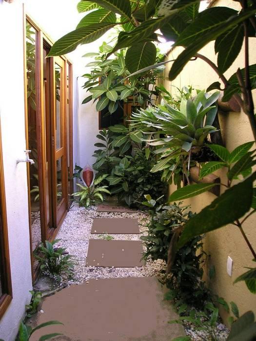 Jardim interno Jardins de inverno tropicais por Metamorfose Arquitetura e Urbanismo Tropical
