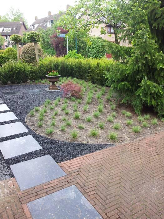 Moderne voortuin:  Tuin door Mocking Hoveniers