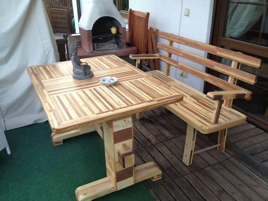 Tisch Und Bank Aus Palettenabfallen Balkon Veranda Terrasse Von