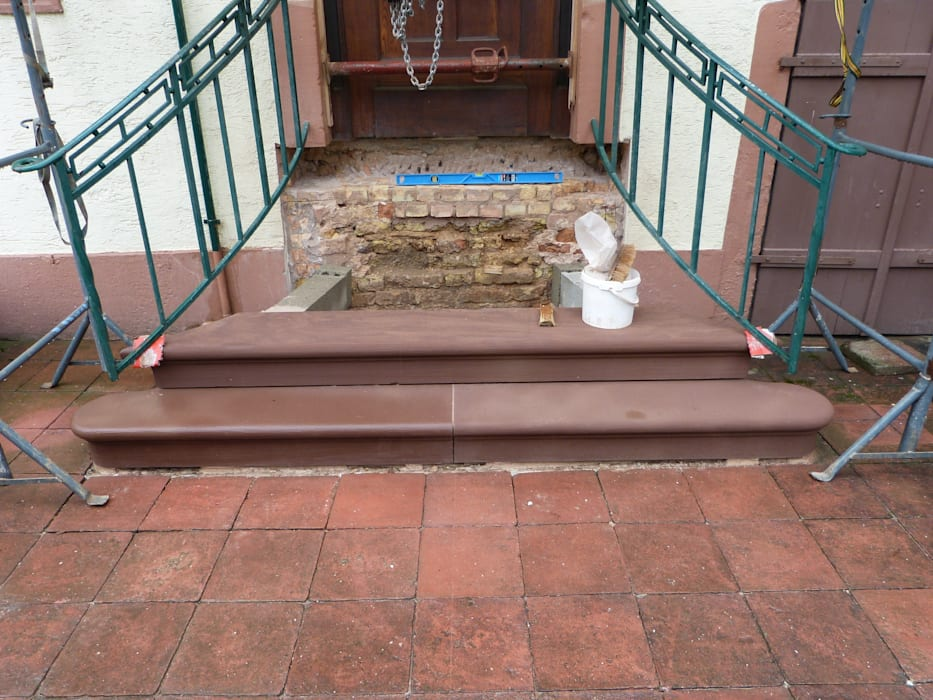 Rénovation d'un escalier par PRobst Thomas Tailleur de pierre/Sculpteur Rustique