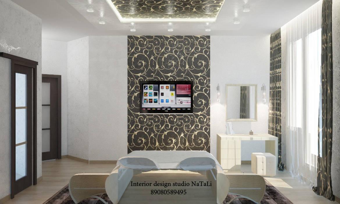 Дизайн квартиры в современном стиле: Спальни в . Автор – Студия дизайна Натали, Модерн