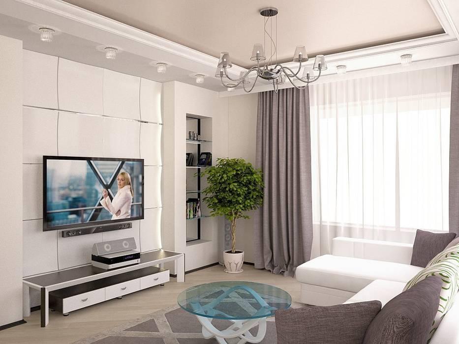 Дизайн квартиры в современном стиле: Гостиная в . Автор – Interior design studio NaTaLi ( Студия дизайна интерьера Натали)