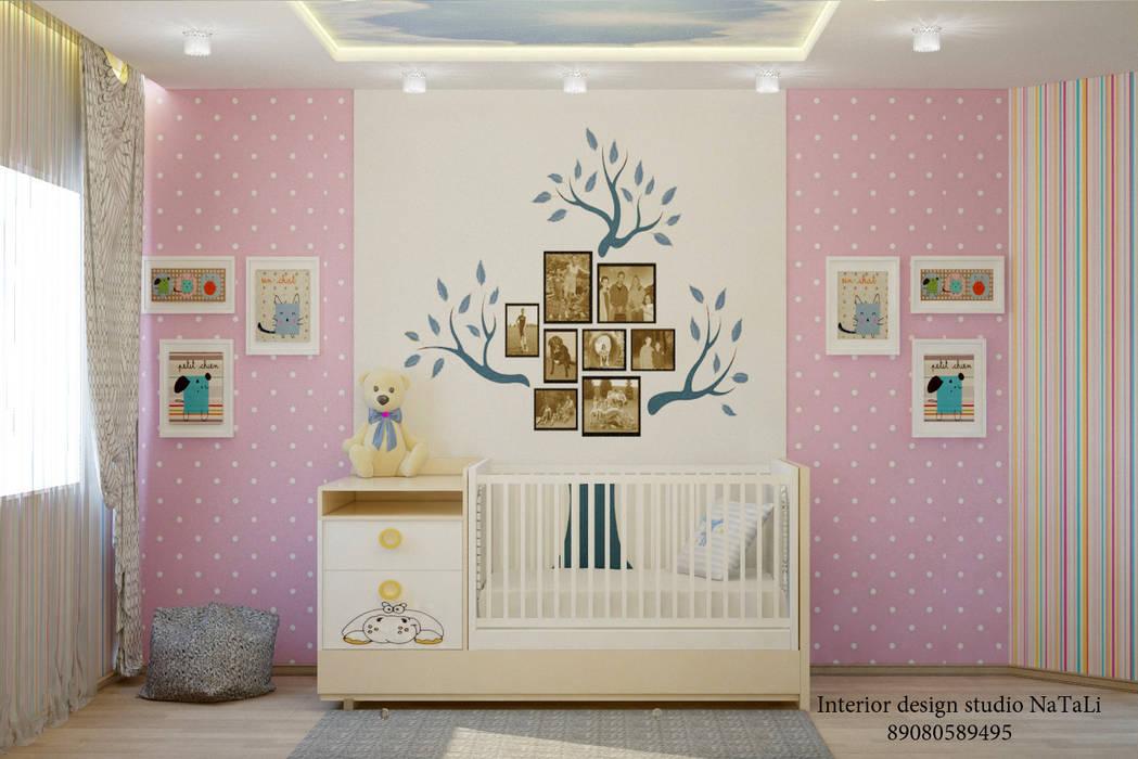 Дизайн квартиры в современном стиле: Детские комнаты в . Автор – Interior design studio NaTaLi ( Студия дизайна интерьера Натали)