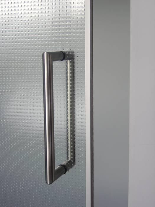Rvs deurgreep Moderne ramen & deuren van Buys Glas Modern