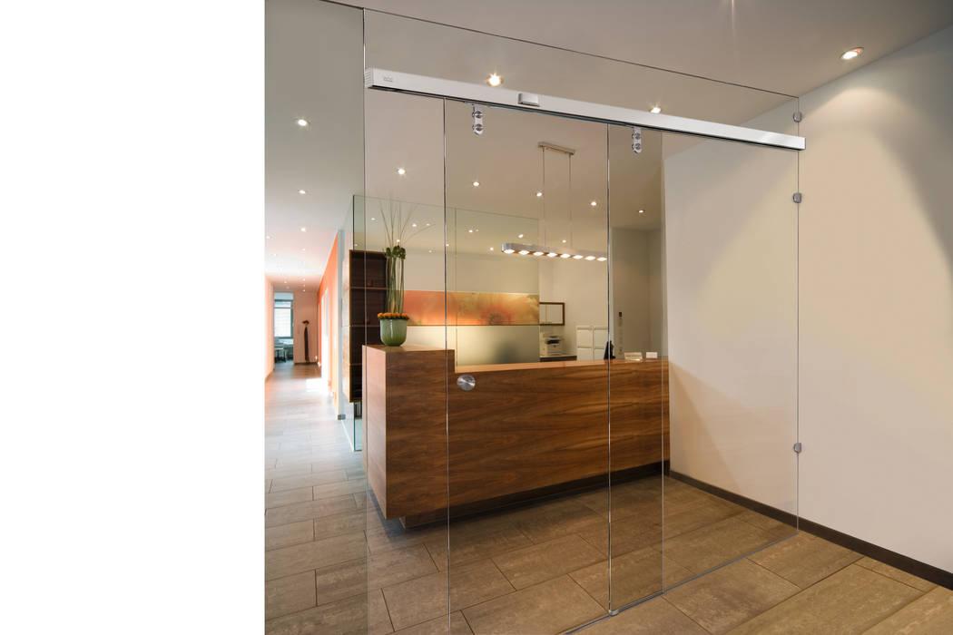 Glazen Shuifdeur Buys Glas Moderne kantoor- & winkelruimten