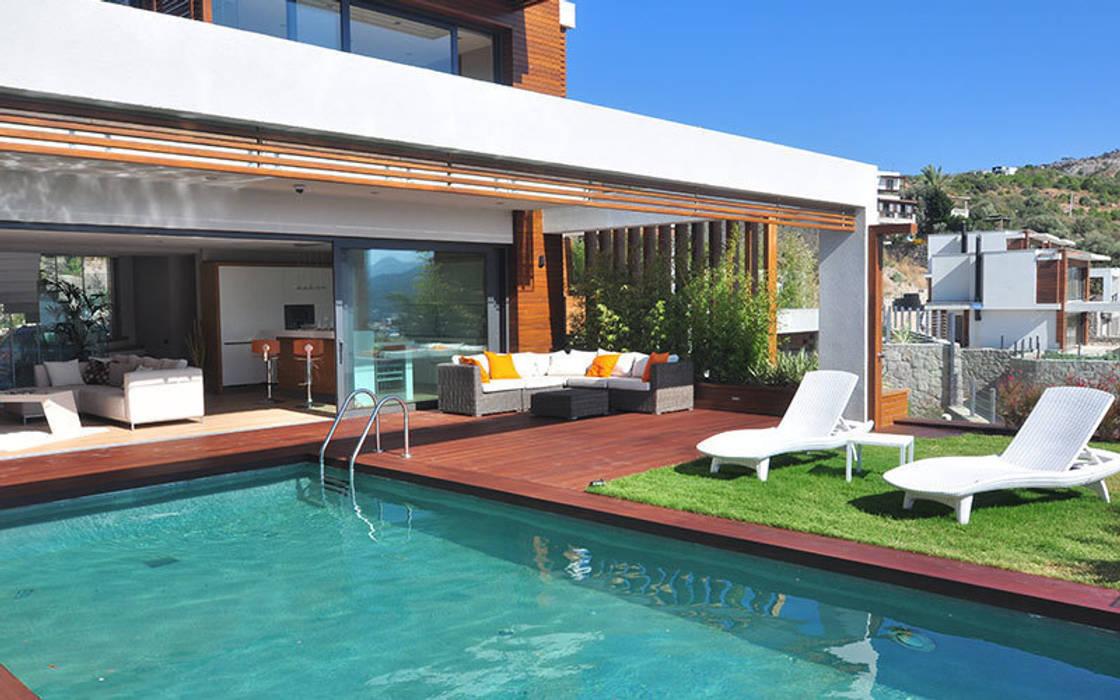 ZEN BODRUM Modern Balkon, Veranda & Teras ARTHUR&MILLER Modern