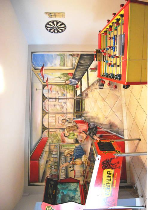 café parisien : Murs de style  par Emilie Cardinale
