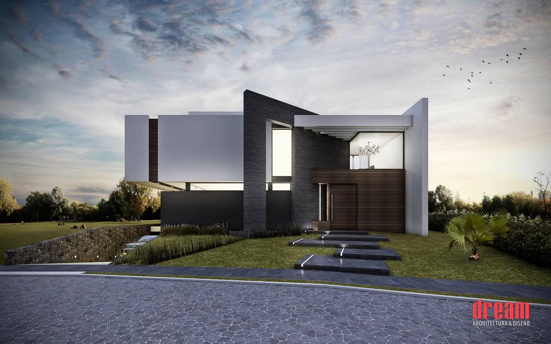 Fachada Principal Casas modernas de Estudio Meraki Moderno