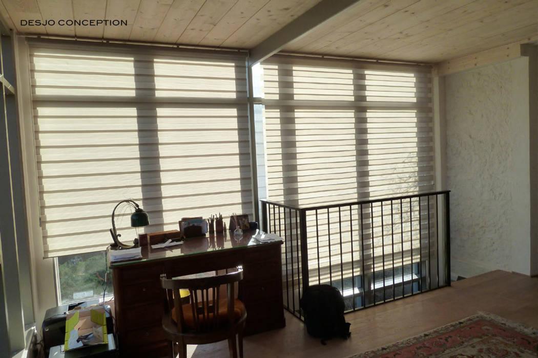Espace bureau: Couloir et hall d'entrée de style  par Desjoconception
