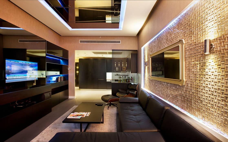 Udesign Architecture – Fulya Daire:  tarz Oturma Odası, Modern