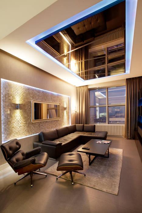 Fulya Daire Modern Oturma Odası Udesign Architecture Modern