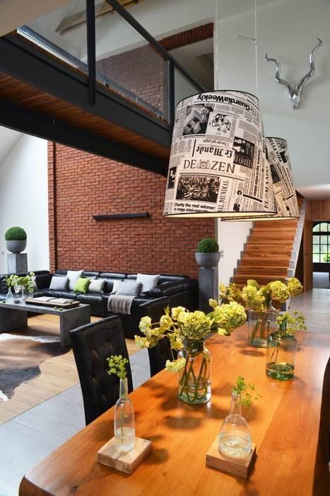 RAJEK Projektowanie Wnętrz Industrial style dining room