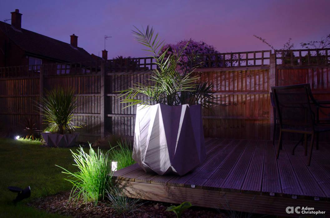 Kronen 65 Planter In Warm Grey Concrete Adam Christopher Design Garden Plant pots & vases Concrete Grey