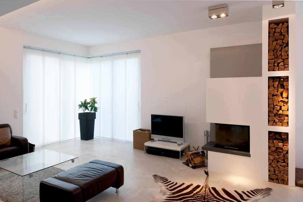 Modernes Einfamilienhaus in Essen Moderne Wohnzimmer von Stockhausen Fotodesign Modern