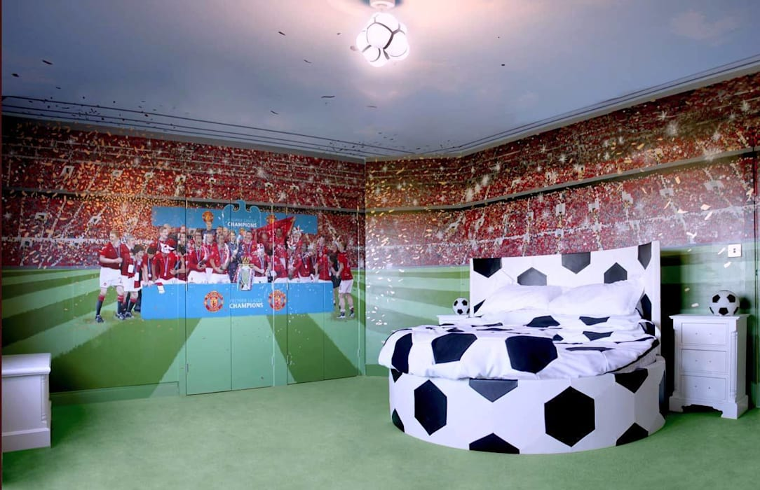. Football wall murals  interior landscaping by banner buzz    homify