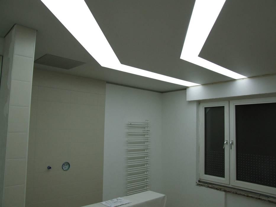 badbereich. indirekte beleuchtung moderne badezimmer von ...