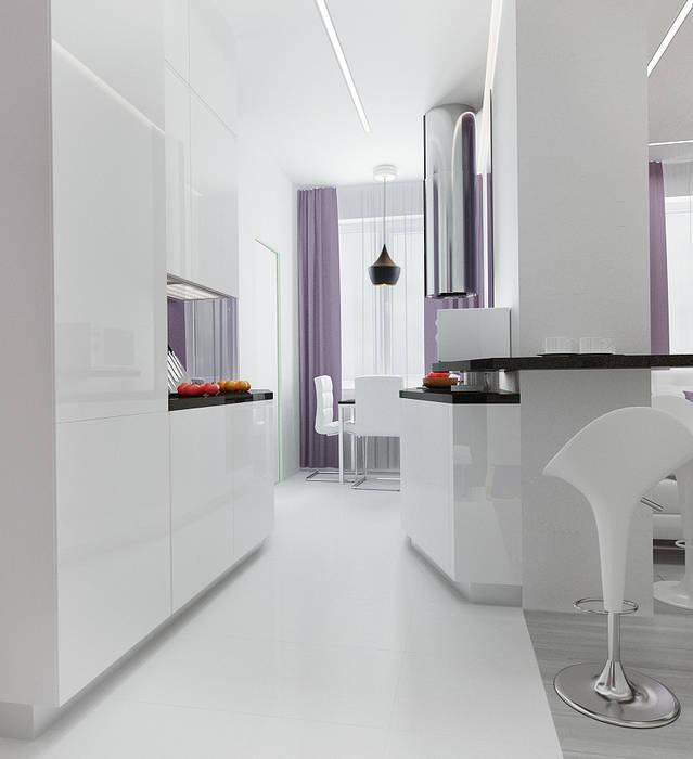 2-х комнатная квартира в Москве : Кухни в . Автор – Rustem Urazmetov, Скандинавский