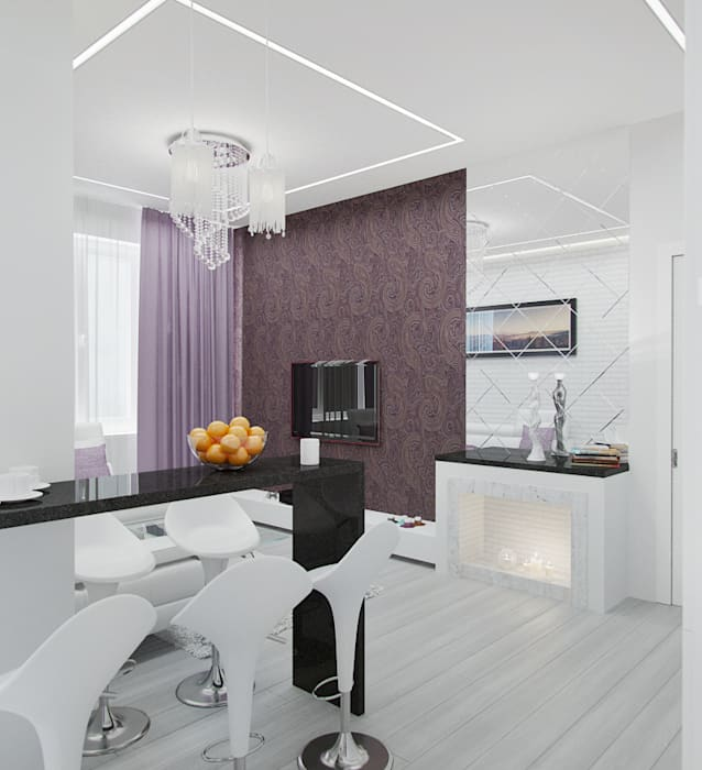 Rustem Urazmetov Scandinavian style living room