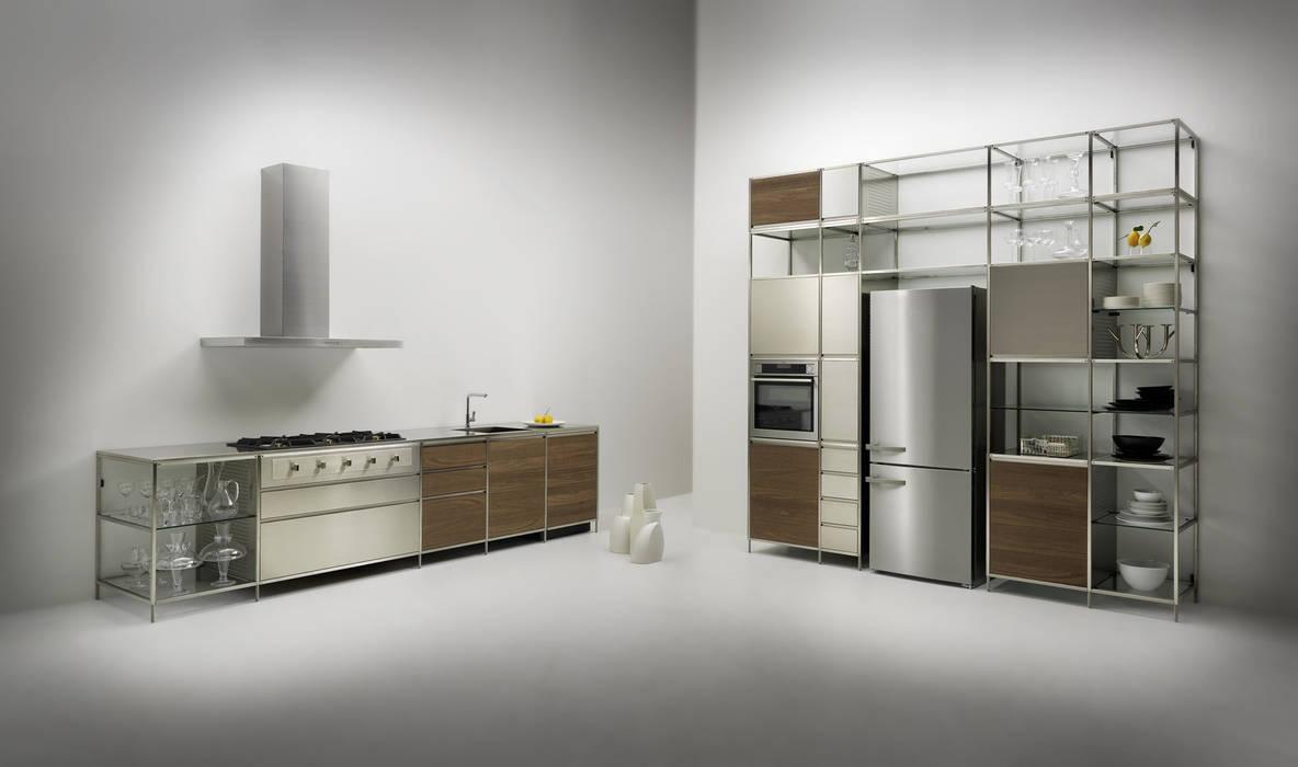 Meccanica Kitchen Steel Frame Dapur Modern Oleh Valcucine Modern Homify