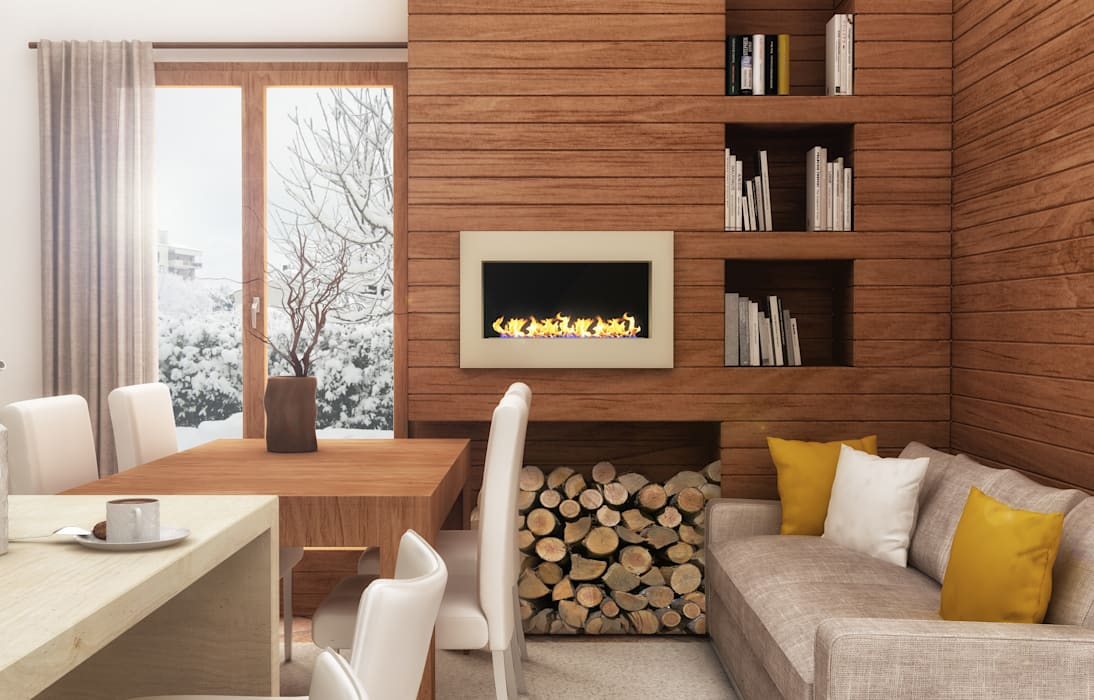 Architetto Luigia Pace Living room Wood Brown