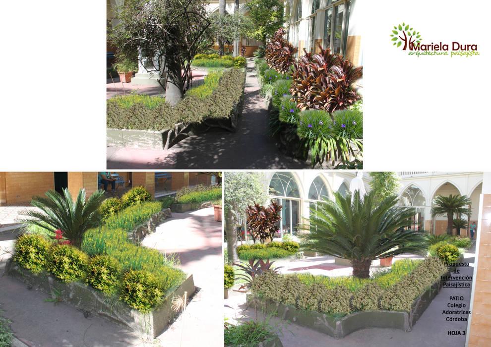 HOJA 3:  PATIO IIIA – MONOLITO: Jardines de estilo clásico por MARIELA DURA ARQUITECTURA PAISAJISTA