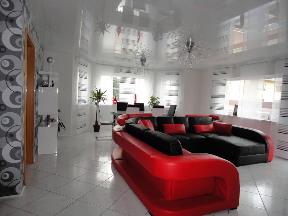 Decken/wand verkleidung moderne wohnzimmer von decken design ...