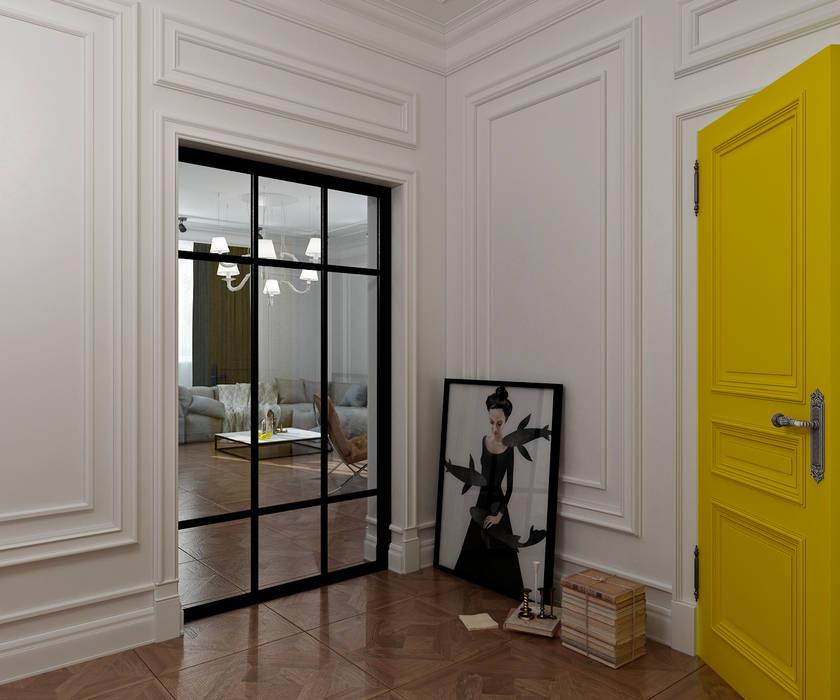 Yellow accents: Коридор и прихожая в . Автор – Студия Антона Сухарева 'SUKHAREVDESIGN',