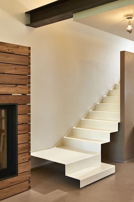 Studio ARTIFEX Minimalist corridor, hallway & stairs