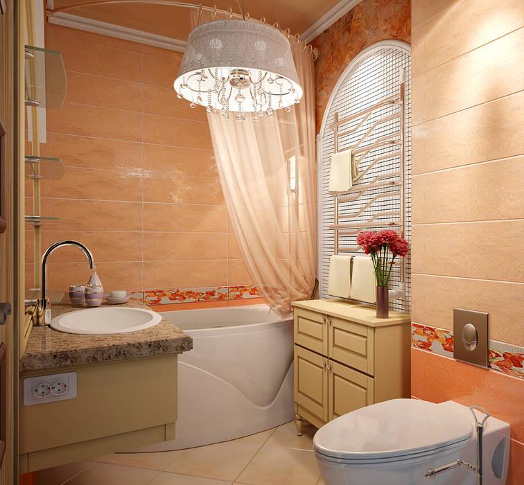 Двухкомнатная квартира. Часть: Ванные комнаты в . Автор – Инна Михайская, Классический