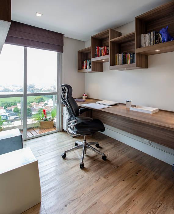 Brooklin Lo. interiores Escritórios modernos
