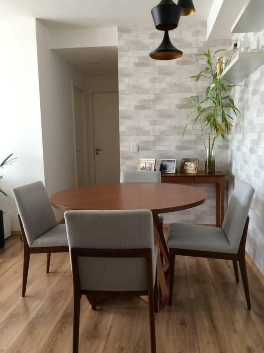 Sala de jantar: Salas de jantar  por Projeto Bem Bolado