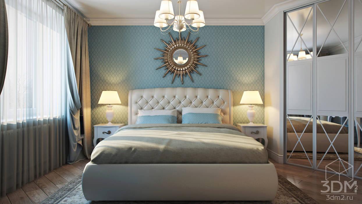 Проект 011: спальня + ванная Спальня в стиле минимализм от студия визуализации и дизайна интерьера '3dm2' Минимализм