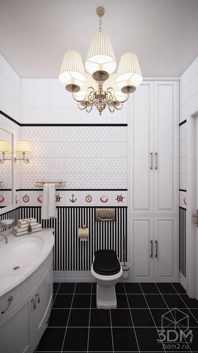 Проект 011: спальня + ванная Ванная комната в стиле минимализм от студия визуализации и дизайна интерьера '3dm2' Минимализм