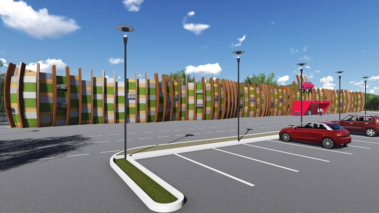 Centro commerciale: Centri commerciali in stile  di M A+D Menzo Architettura+Design