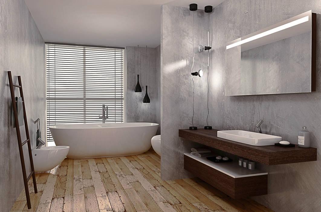 Rendering bagno: Hotel in stile  di RenderLab