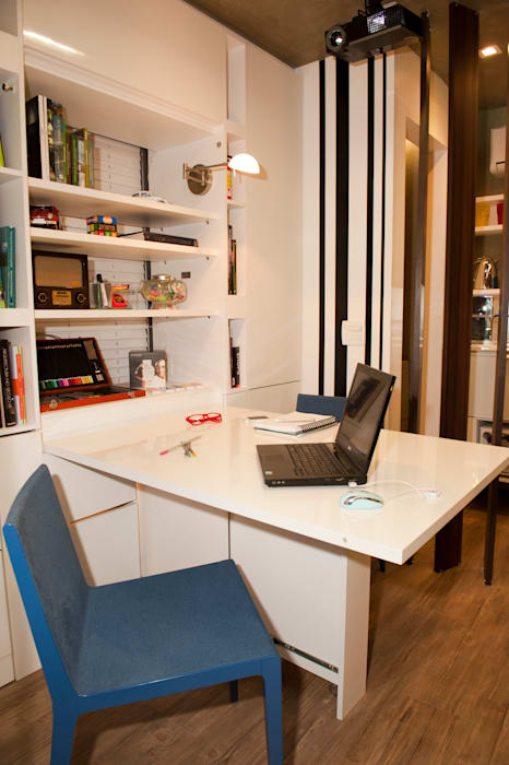 Pocket Office: Escritórios  por Espaço do Traço arquitetura,Industrial