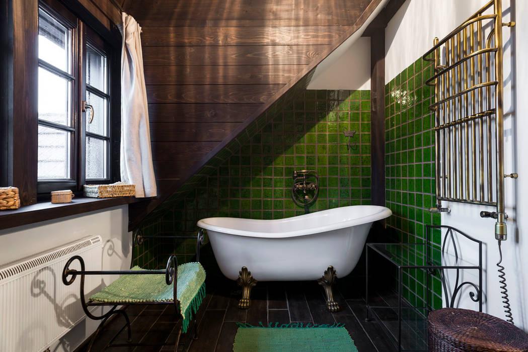 kafle Rustykalna łazienka od dekornia Rustykalny